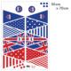ウォールステッカー /イギリス柄三角旗
